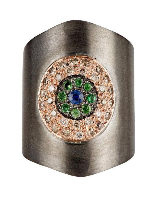 Ileana Makri | Metallic Shield Ring | Lyst
