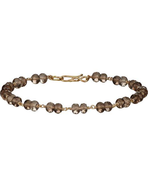 Dean Harris | Brown Beaded Bracelet for Men | Lyst