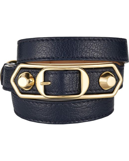 Balenciaga | Blue Metallic Edge Wrap Bracelet | Lyst