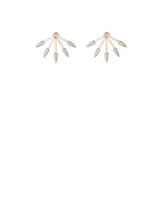 Pamela Love | White Five Spike Earrings | Lyst