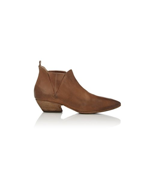 mars 232 ll western ankle boots in brown lyst