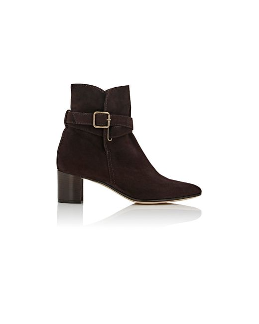 manolo blahnik sulgamba suede ankle boots in brown lyst
