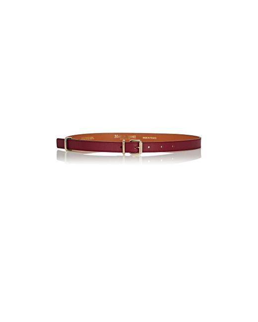 Maison Boinet | Multicolor Nappa Leather Skinny Belt | Lyst