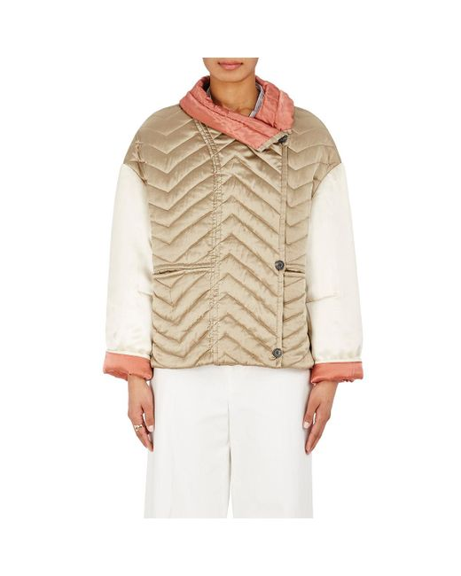 Isabel Marant | Natural Hector Quilted Silk Jacket | Lyst