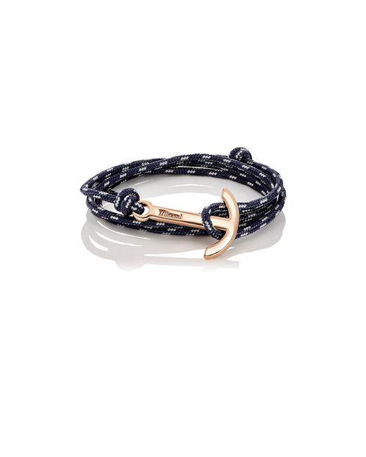 Miansai | Black Modern Anchor On Rope Bracelet | Lyst