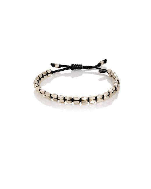 M. Cohen   Black Beaded Waxed Cord Bracelet   Lyst
