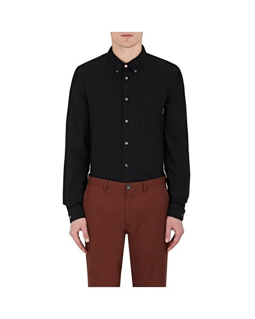 PS by Paul Smith | Black Cotton-blend Button for Men | Lyst