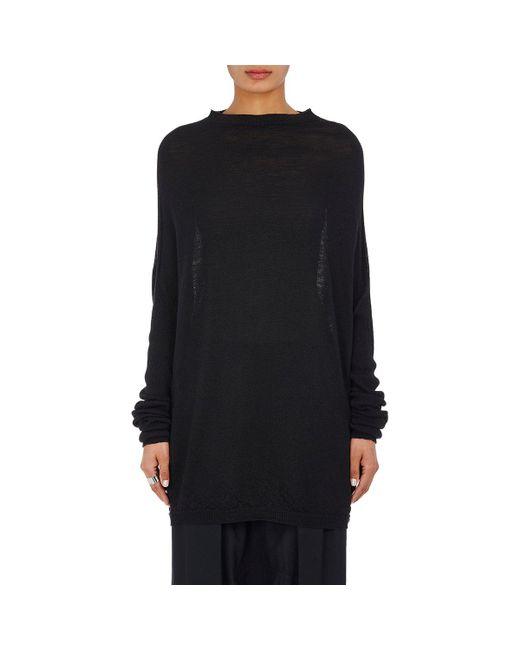 Rick Owens | Black Crater Virgin Wool Sweater | Lyst