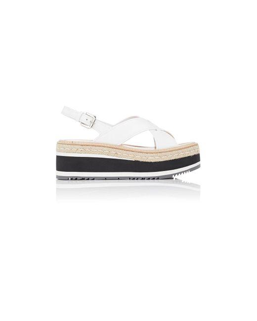Prada | White Leather Platform | Lyst