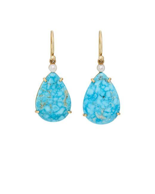 Irene Neuwirth | Blue Turquoise & Pearl Drop Earrings | Lyst