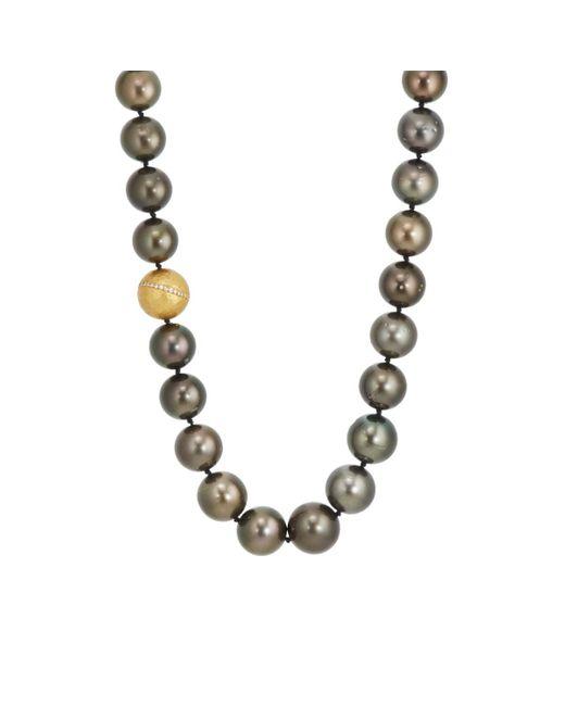 Malcolm Betts | Metallic Tahitian Pearl Necklace | Lyst