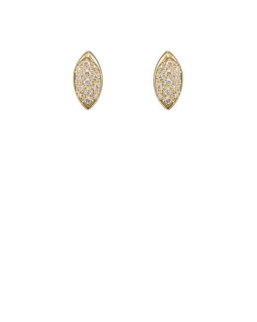 Jennifer Meyer   White Mini Evil Eye Stud Earrings   Lyst