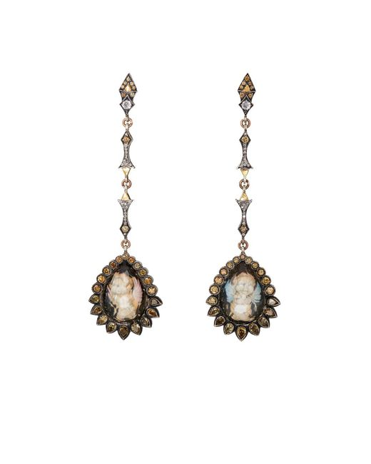 Sevan Biçakci | White Arabesque Drop Earrings | Lyst