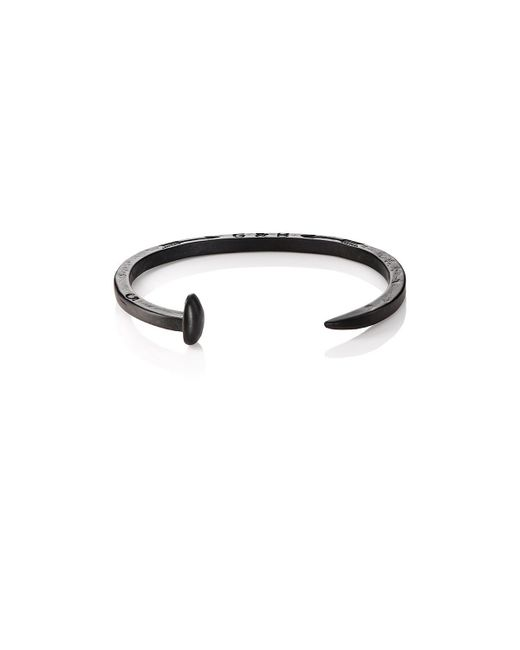 Giles & Brother - Black Skinny Railroad Spike Cuff for Men - Lyst