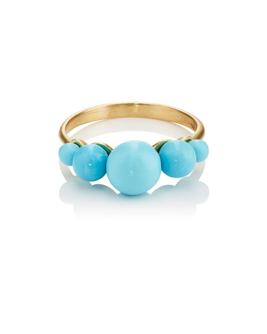 Irene Neuwirth | Blue Turquoise Sphere Ring | Lyst