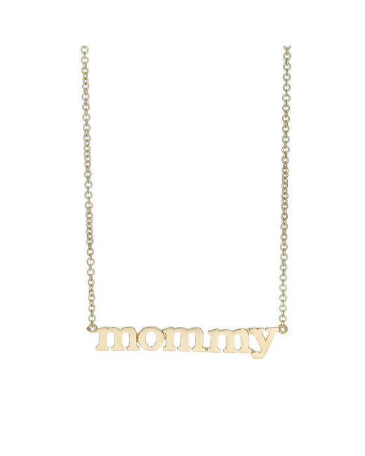 Jennifer Meyer - Metallic mommy Pendant Necklace - Lyst
