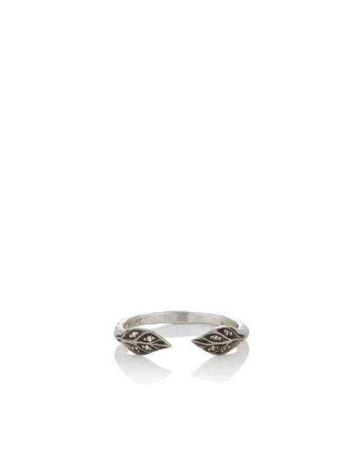 Cathy Waterman - Metallic Double-leaf Cuff Ring - Lyst