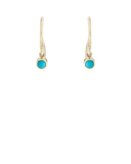 Jennifer Meyer - Blue Turquoise Bezel Drop Earrings - Lyst