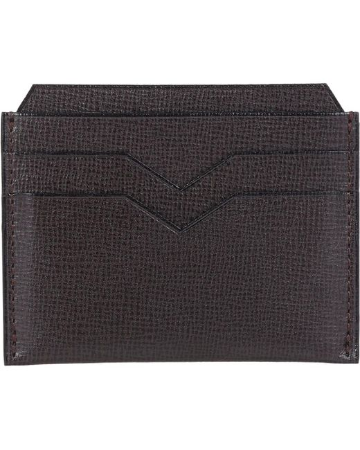 Valextra - Brown Flat Card Case for Men - Lyst