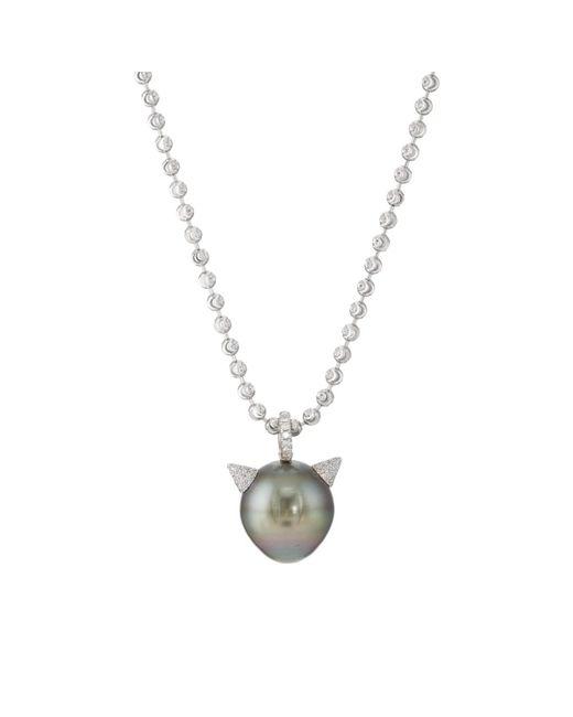 Samira 13 - Metallic Tahitian Pearl Pendant Necklace - Lyst