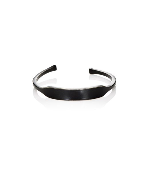Giles & Brother - Black Id Cuff for Men - Lyst