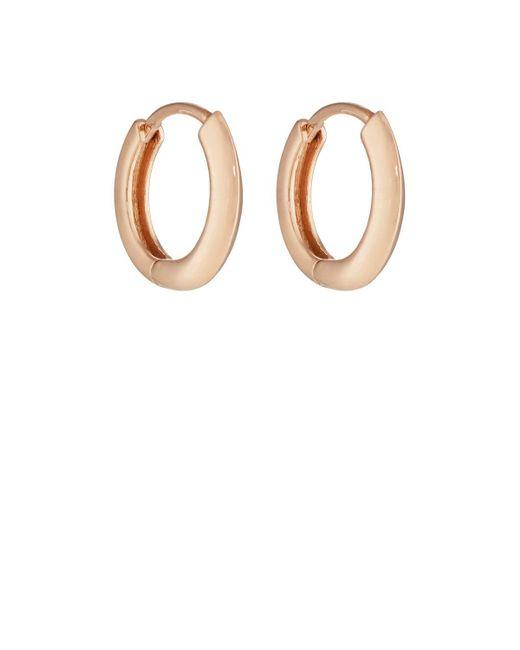 Eva Fehren | Metallic Rose Gold Huggie Hoop Earrings | Lyst