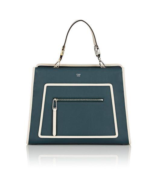 f749aa8d3283 Fendi - Green Runaway Leather Tote Bag - Lyst ...