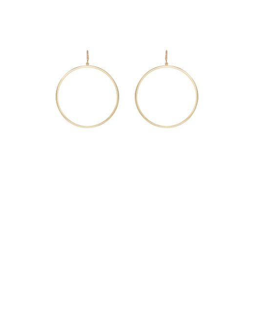 Jennifer Meyer - Yellow Open Circle Hoop Earrings - Lyst