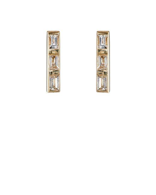 Ileana Makri | Metallic Thread Bar Stud Earrings | Lyst
