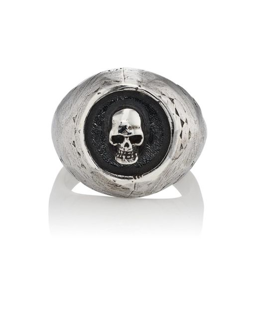 Emanuele Bicocchi - Metallic Skull Cameo Ring for Men - Lyst