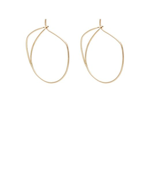Hirotaka - Metallic Yellow Gold Wire Hoop Earrings - Lyst