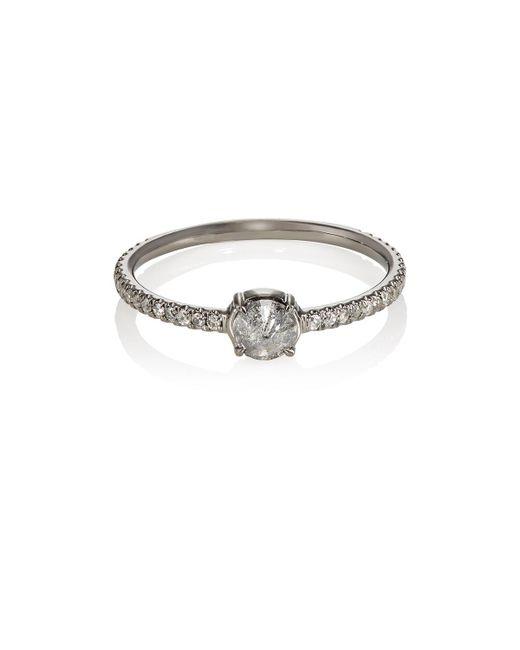 Eva Fehren - Metallic Solitaire Ring - Lyst