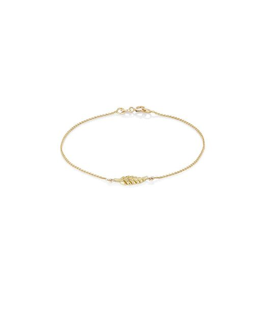 Jennifer Meyer - Multicolor Leaf Charm Bracelet - Lyst