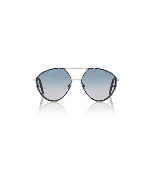 Balenciaga   Metallic Ba 85 Sunglasses   Lyst