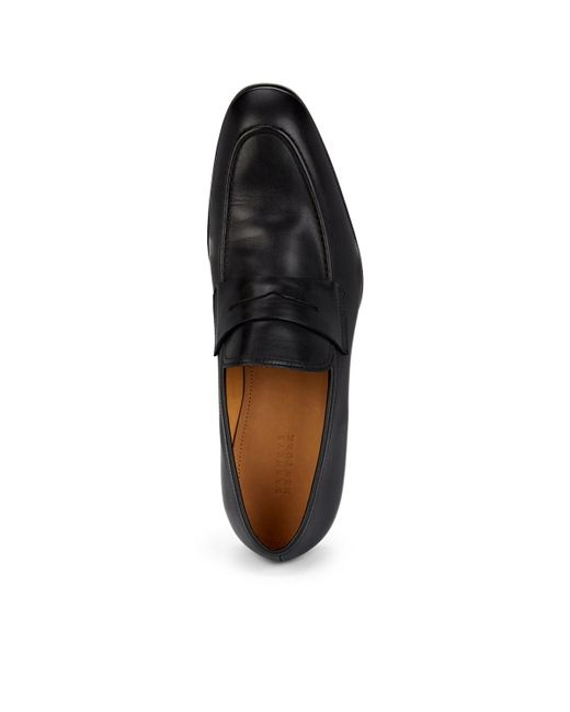 6be68541d0479 ... Barneys New York - Black Apron-toe Penny Loafers for Men - Lyst
