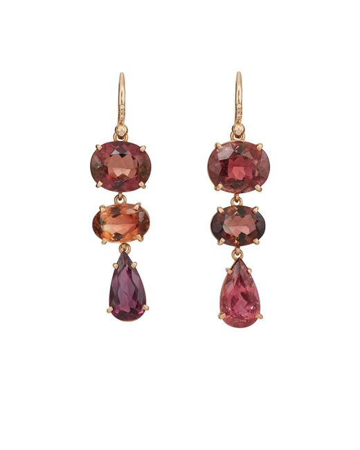 Irene Neuwirth | Pink Tourmaline Drop Earrings | Lyst