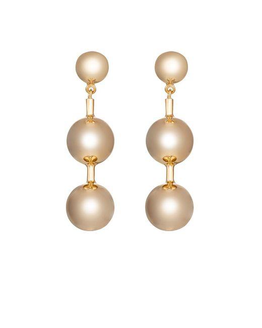 Agmes | Metallic Short Paula Earrings | Lyst
