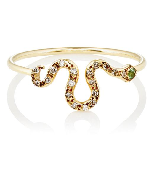 Ileana Makri - Metallic Snake Ring - Lyst