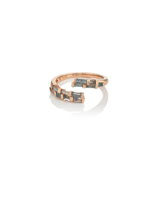 Nak Armstrong | Open Coil Blue Zircon & Rose Gold Ring | Lyst
