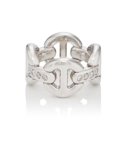 Hoorsenbuhs - White Quad Link Ring - Lyst