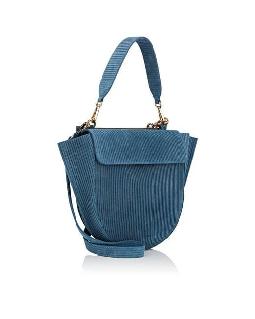 78db2b544c ... Wandler - Blue Hortensia Medium Suede Shoulder Bag - Lyst ...