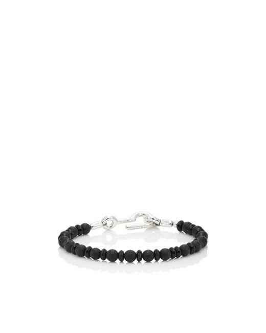 Caputo & Co. Black Onyx Beaded Bracelet for men