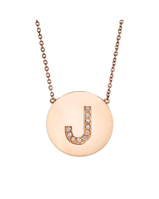 Jennifer Meyer | Multicolor Initial Pendant Necklace | Lyst