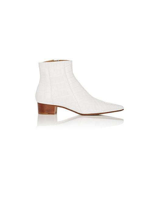 The Row - White Alligator Ambra Ankle Boots - Lyst