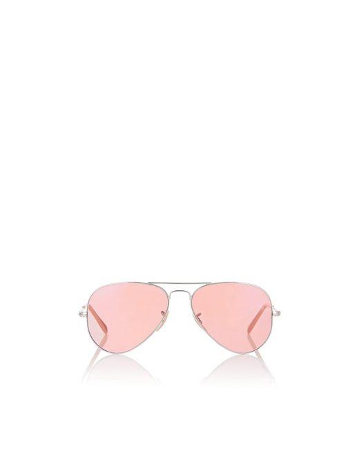 Ray-Ban - Orange Aviator Large Metal Sunglasses for Men - Lyst