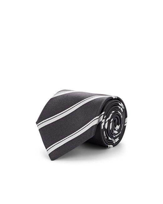 Bigi Gray Striped Silk Necktie for men