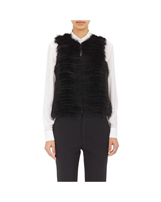 d678fdf3cc3 ... J. Mendel - Black Sequined-back Fur Vest - Lyst