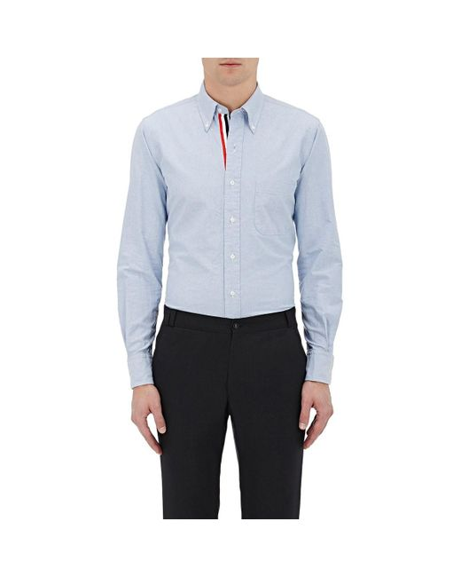 Thom Browne Blue Oxford Cloth Shirt for men