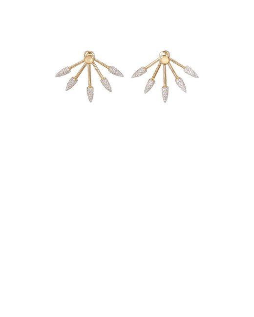 Pamela Love - White Five Spike Earrings - Lyst