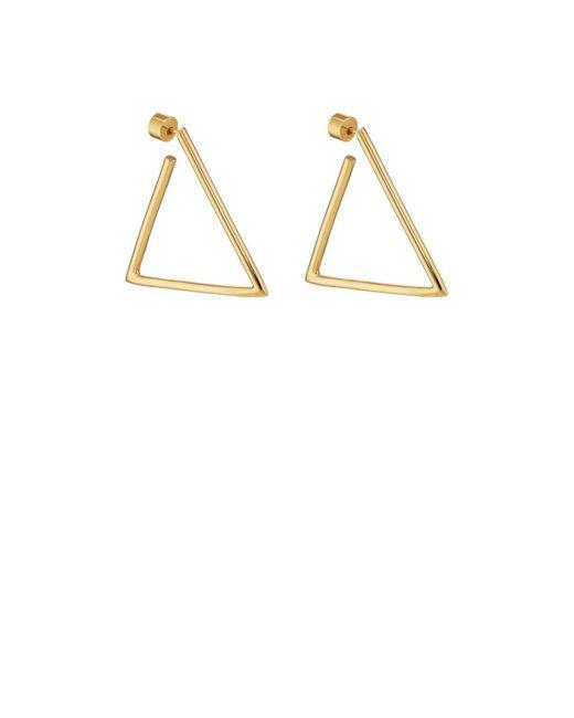 Jennifer Fisher | Metallic Triangle Hoop Earrings | Lyst